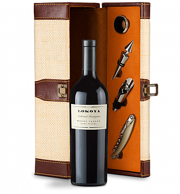 Wine Totes & Carriers: Lokoya Mt. Veeder Cabernet Sauvignon 2009 Wine Steward Luxury Caddy