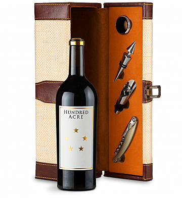 Wine Totes & Carriers: Hundred Acre Kayli Morgan Cabernet Sauvignon 2014 Wine Steward Luxury Caddy