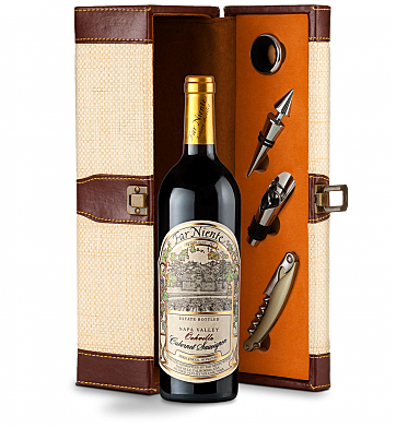 Wine Totes & Carriers: Far Niente Estate Bottled Cabernet Sauvignon 2014 Wine Steward Luxury Caddy