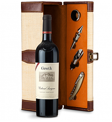 Wine Totes & Carriers: Groth Reserve Cabernet Sauvignon 2016 Wine Steward Luxury Caddy