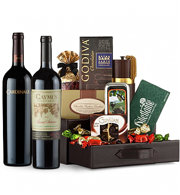 Premium Wine Baskets: Caymus Special Selection & Cardinale Wine and Chocolate Perfection