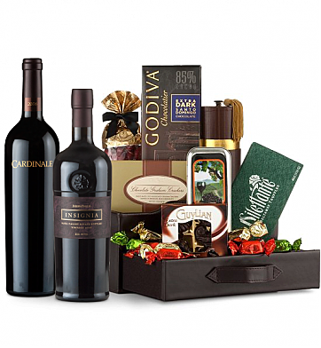 Premium Wine Baskets: Cardinale Cabernet Sauvignon 2006 & Joseph Phelps Insignia 2006 Wine and Chocolate Perfection