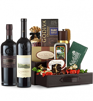 Premium Wine Baskets: Quintessa Meritage Red & Joseph Phelps Insignia Wine and Chocolate Perfection