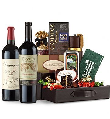 Premium Wine Baskets: Caymus Special Selection & Dominus Estate Wine and Chocolate Perfection