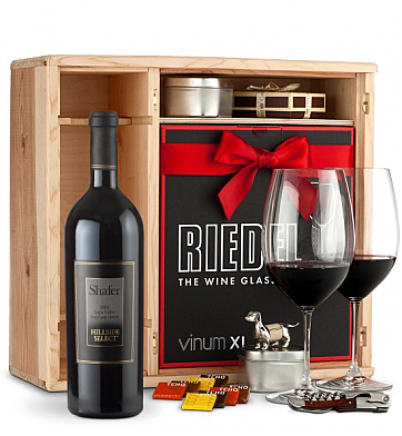 Wine Gift Boxes: Shafer Hillside Select Cabernet Sauvignon 2008 Private Cellar Gift Set
