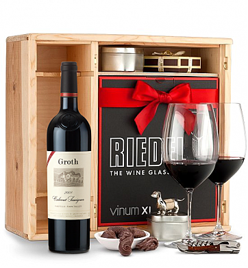 Wine Gift Boxes: Groth Reserve Cabernet Sauvignon 2008 Private Cellar Gift Set