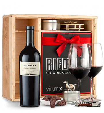 Wine Gift Boxes: Lokoya Spring Mountain Cabernet Sauvignon 2012 Private Cellar Gift Set