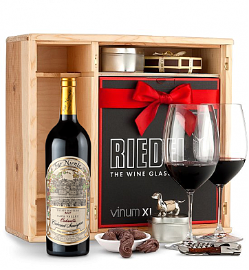 Wine Gift Boxes: Far Niente Estate Bottled Cabernet Sauvignon 2012 Private Cellar Gift Set