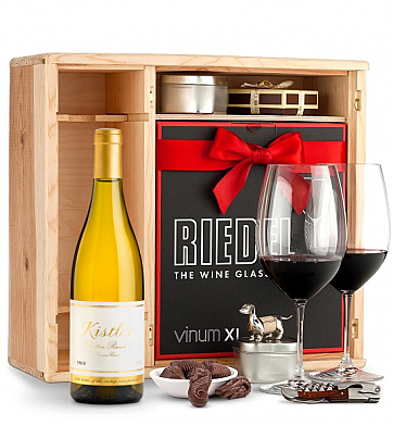 Wine Gift Boxes: Kistler Vineyards Dutton Ranch Chardonnay Sonoma Coast 2014 Private Cellar Gift Set