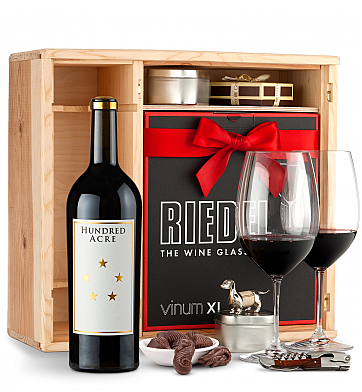 Wine Gift Boxes: Hundred Acre Few And Far Between Cabernet Sauvignon 2012 Private Cellar Gift Set