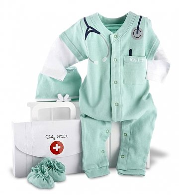 Baby Gift Baskets: Baby MD Three-Piece Layette Set