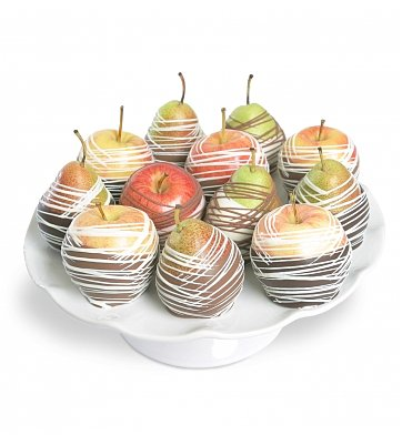 Fruit Gift Baskets: Chocolate Dipped Apples & Pears