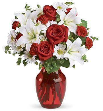 Flower Bouquets: Holiday Spirit Bouquet