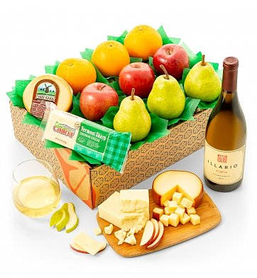 Fruit Baskets: Fresh Fruit Trio & Cheese