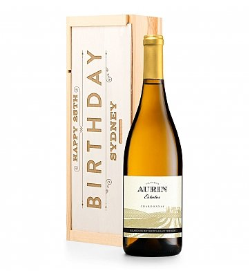 Personalized Keepsake Gifts: Personalized Birthday Wine Crate