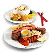 Gourmet Gift Baskets: Filet Feast & Maine Lobster Tails Dinner