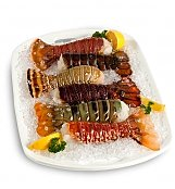 Gourmet Gift Baskets: Continental Lobster Tail Sampler with Six Tails