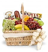 Food & Fruit Baskets: New Baby Gourmet Fruit Basket