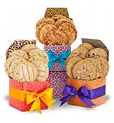 Cookie Gift Baskets: Sweet Surprise Cookie Trio with Two Dozen Cookies