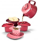 Coffee & Tea Gift Baskets: Rose Tea Set