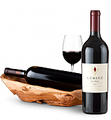 Wine Totes & Carriers: Root Presentation Bowl with Verite La Joie Cabernet Sauvignon
