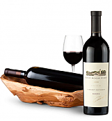 Wine Totes & Carriers: Root Presentation Bowl with Robert Mondavi Reserve Cabernet