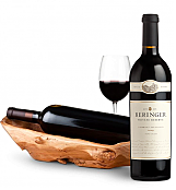 Wine Totes & Carriers: Root Presentation Bowl with Beringer Private Reserve Cabernet Sauvignon
