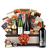 Premium Wine Baskets: The Hamptons Luxury Wine Basket-Silver Oak Napa Valley Cabernet Sauvignon 2007