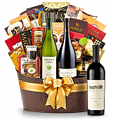 Premium Wine Baskets: The Hamptons Luxury Wine Basket-Robert Mondavi Reserve Cabernet Sauvignon 2009