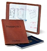 Personalized Keepsake Gifts: Leather Passport Holder