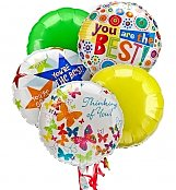 Balloons: Admin's Day Balloon Bouquet-5 Mylar