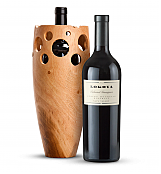 Premium Wine Baskets: Handmade Wooden Wine Vase with Lokoya Spring Mountain Cabernet Sauvignon 2007