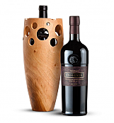 Premium Wine Baskets: Handmade Wooden Wine Vase With Joseph Phelps Insignia Red 2009