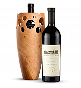 Wine Accessories & Decanters: Robert Mondavi Reserve Cabernet Sauvignon 2012 with Handmade Wooden Wine Vase