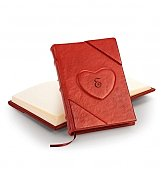 Personalized Keepsake Gifts: Personalized Handmade Leather Heart Journal