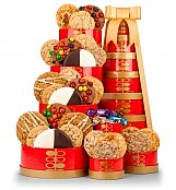Gift Towers: Gourmet Cookie Extravaganza Gift Tower