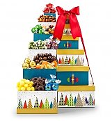 Gift Towers: Deck the Halls Snack Tower