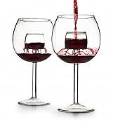 Wine Accessories & Decanters: Set of Two Chevalier Aerating Wine Glasses