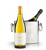 Wine Accessories & Decanters: Kistler Vineyard Sonoma Mountain Chardonnay 2014 with Luxury Wine Chiller