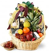 Food & Fruit Baskets: Cornucopia Fruit Basket