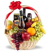 Wine & Fruit Baskets: Uplifting Fruit & Wine Collection