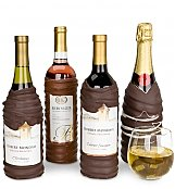 Wine Gift Crates: Chocolate-Dipped Wine