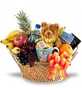 Fruit Gift Baskets: Feel Better Soon Fruit & Gourmet Basket
