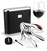 Personalized Wine Gifts: Monogrammed VIP Silver Wine Opener