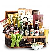 Wine Baskets: Anniversary Beer Basket for Him