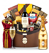 Champagne Baskets: Louis Roederer Cristal Brut 2006 Windsor Luxury Gift Basket