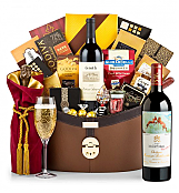 Champagne Baskets: Chateau Mouton Rothschild 2012 Windsor Luxury Gift Basket