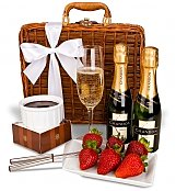 Champagne Gift Baskets: Champagne & Fondue for Two