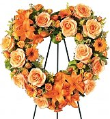 Flower Bouquets: Hearts Eternal Wreath