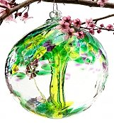 Home Decor: Remembrance Tree Ornamental Glass Globe